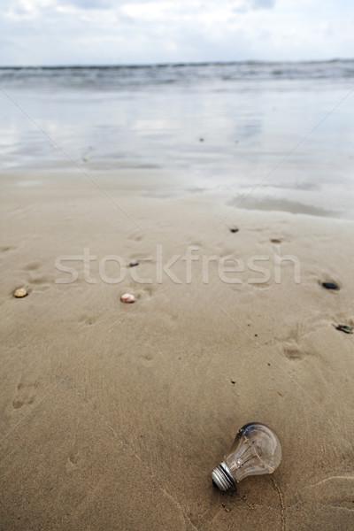 Ampul plaj kullanılmış terkedilmiş hava durumu Stok fotoğraf © eldadcarin