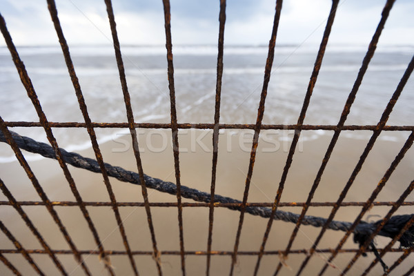 Beach Mesh Corrosion Stock photo © eldadcarin