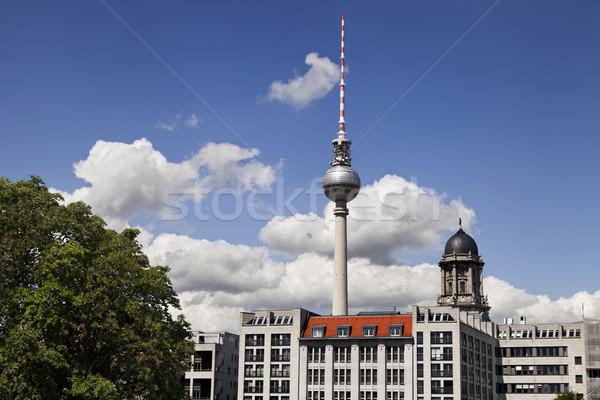 ベルリン 建物 テレビ 塔 テレビ塔 表示 ストックフォト © eldadcarin