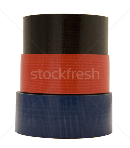 Isolated Three Roles of Gaffer Tape Stock photo © eldadcarin