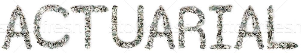 Stock fotó: 100 · számlák · szó · ki · izolált · fehér