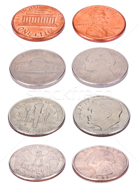 American Coins - High Angle Stock photo © eldadcarin