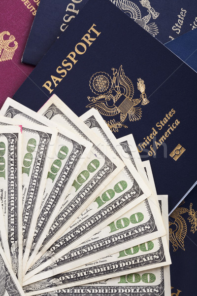 Cash & Passports Stock photo © eldadcarin