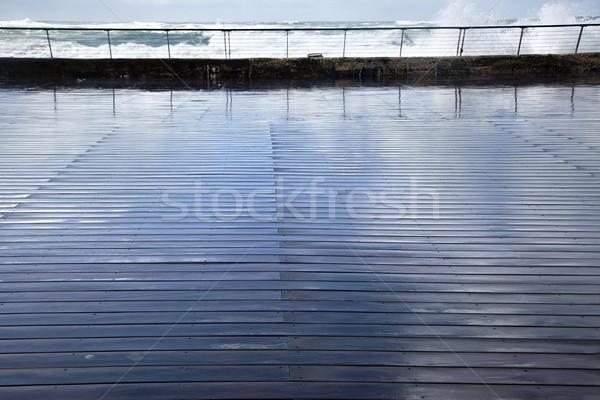 Wet Wooden Boardwalk Stock photo © eldadcarin