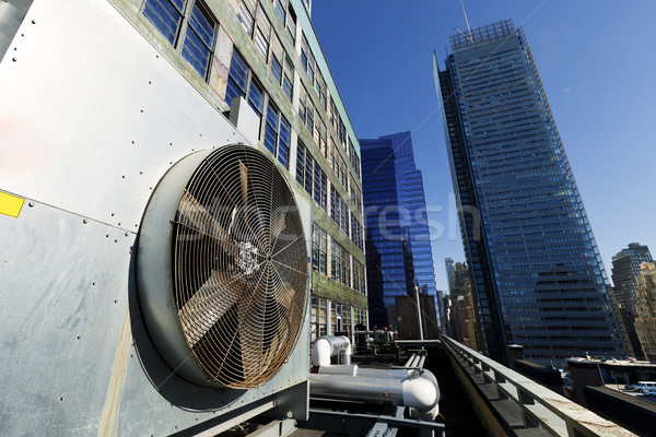 Stock photo: Urban HVAC Air Contidioner Outdoor Unit Manhattan New-York