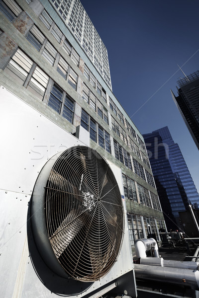 Urban HVAC Air Contidioner Outdoor Unit Manhattan New-York Bleac Stock photo © eldadcarin