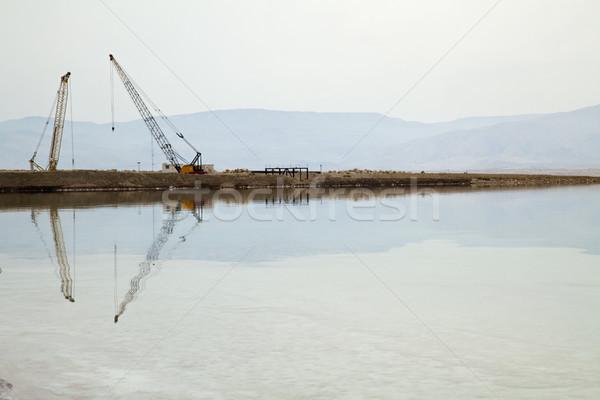 Zwaar machines dode zee twee industriële natuurlijke Stockfoto © eldadcarin