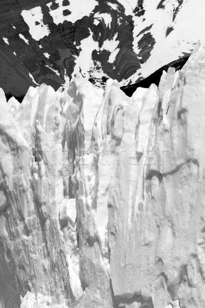 Foto d'archivio: Ghiacciaio · rupe · montagna · sud · america · acqua · natura