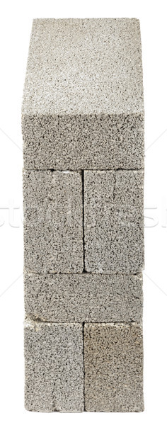 Stacked Construction Blocks - High Angle Stock photo © eldadcarin