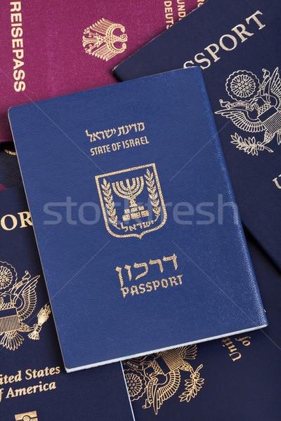 израильский паспорта американский бумаги Сток-фото © eldadcarin