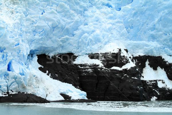Gleccser dél-amerika víz természet tenger fehér Stock fotó © eldadcarin