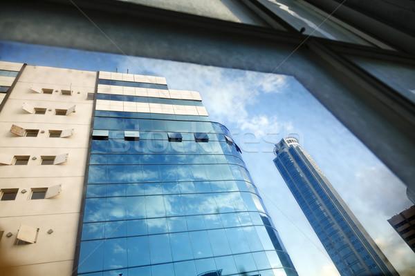 Office Buildings Through Window Stock photo © eldadcarin