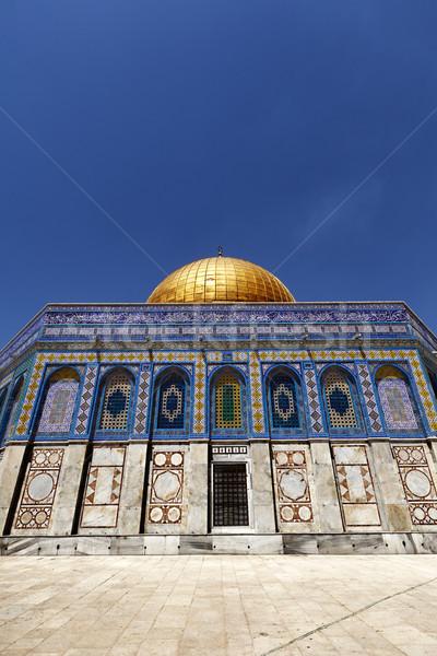 Dom stâncă una islam vechi oraş Imagine de stoc © eldadcarin