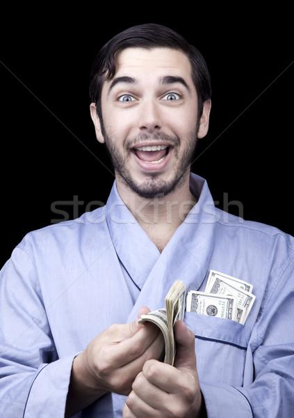 Excité riche bum adulte homme Photo stock © eldadcarin