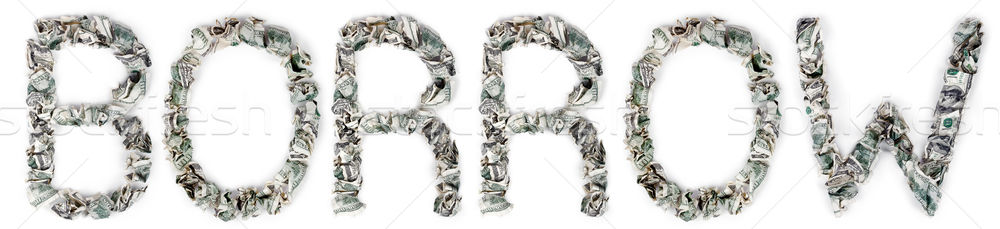 Borrow - Crimped 100$ Bills Stock photo © eldadcarin