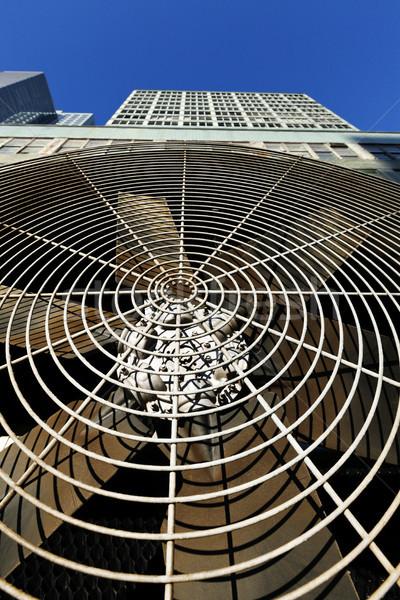 HVAC Air Conditioner Ventilator Wide Angle Close-Up Stock photo © eldadcarin