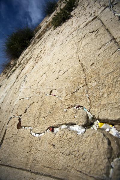 Buzón primer plano pared edad ciudad Jerusalén Foto stock © eldadcarin