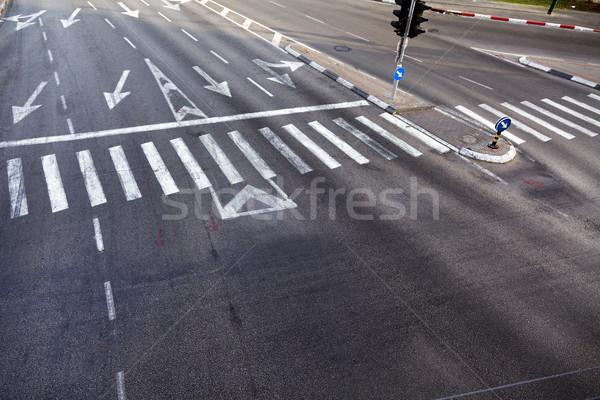 Intersection Zebra Crossing Stock photo © eldadcarin