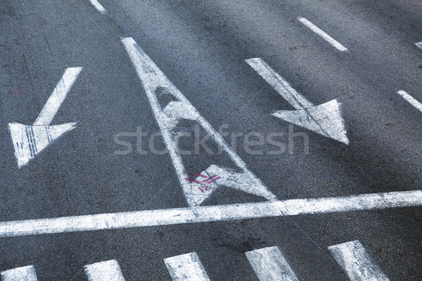 Intersection Road Marking Stock photo © eldadcarin