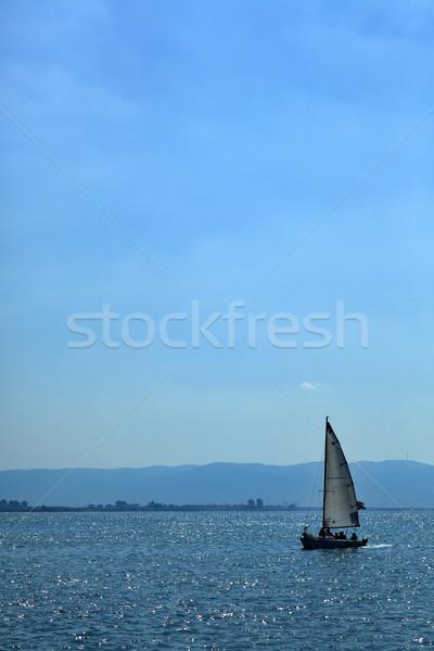 Sailing in Haifa Bay Stock photo © eldadcarin