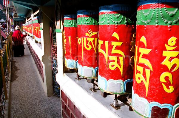 Prayer Wheels in McLeod Ganj Stock photo © eldadcarin