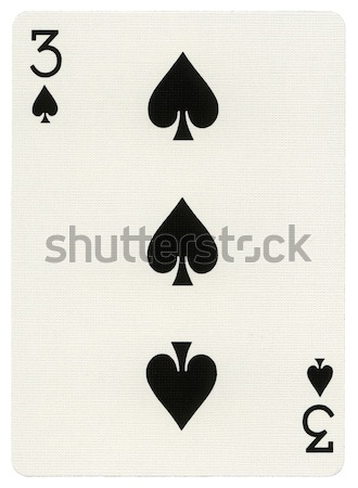 Playing Card - Three of Spades Stock photo © eldadcarin