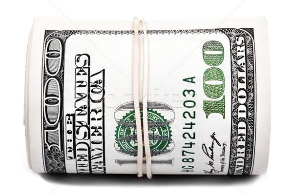 Zsemle 100 számlák köteg amerikai dollár Stock fotó © eldadcarin