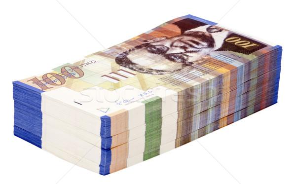 Isolated 100 NIS Bills Stack Stock photo © eldadcarin