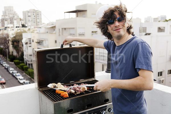 Joyful Grillin' Stock photo © eldadcarin