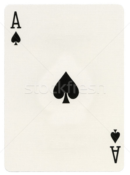 Playing Card - Ace of Spades Stock photo © eldadcarin