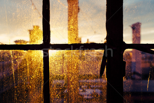 Afternoon Sun Back Lighting Stained Window Stock photo © eldadcarin
