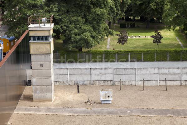 East-West Berlin Original Border Section Stock photo © eldadcarin