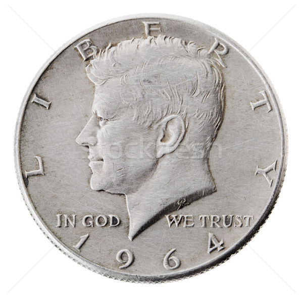 Silver Kennedy Half Dollar - Heads Frontal Stock photo © eldadcarin