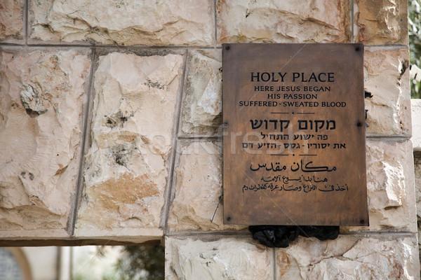 Gethsemane Entrance Stock photo © eldadcarin