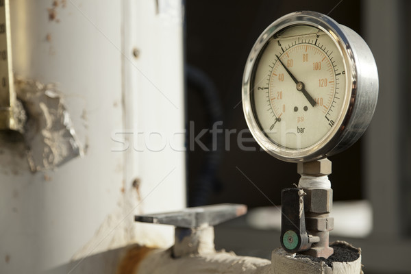 Industrial Pressure Gauge Stock photo © eldadcarin