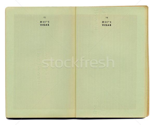 Blank pre-Israel Passport Stock photo © eldadcarin