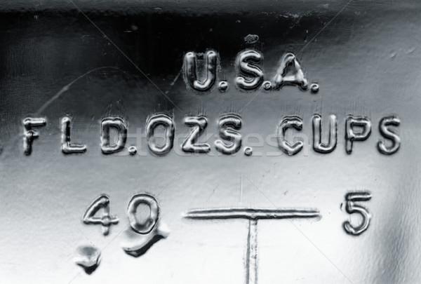 U.S.A. FLD. OZS. CUPS Stock photo © eldadcarin