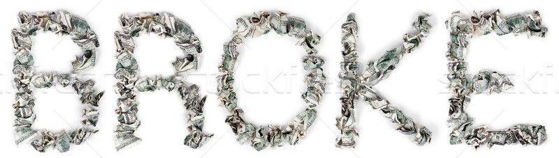 Broke - Crimped 100$ Bills Stock photo © eldadcarin