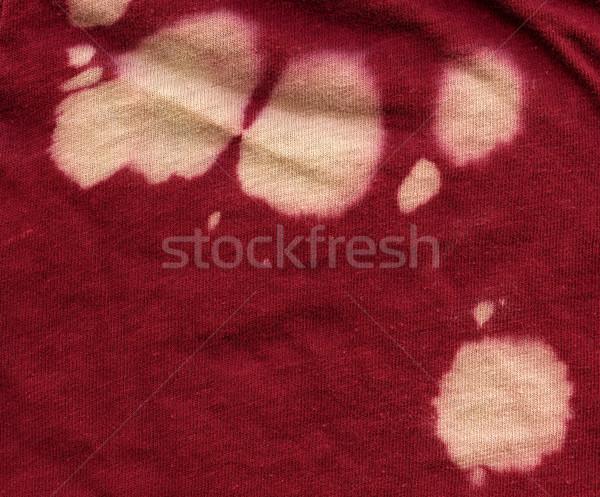 Katoen weefsel textuur Rood bleekmiddel Stockfoto © eldadcarin