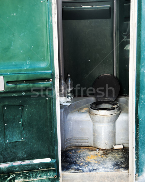 Construction Site Chemical Toilet Stock photo © eldadcarin