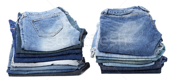 Isolated Jeans Stacks Stock photo © eldadcarin