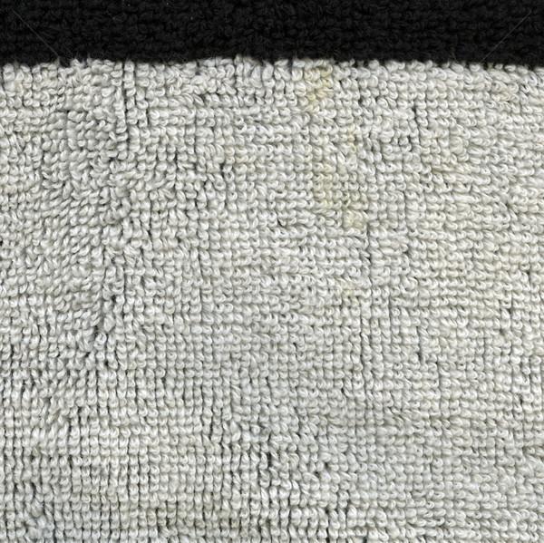 Ręcznik tkaniny tekstury biały czarny naszywka Zdjęcia stock © eldadcarin