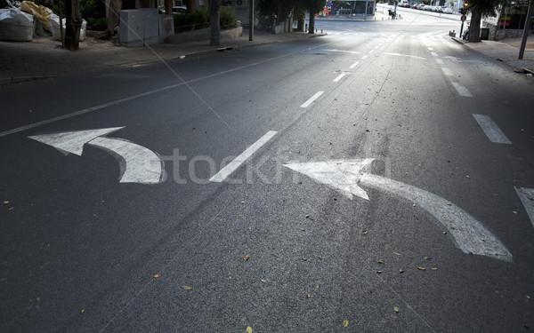 Vacío calle amanecer temprano manana Israel Foto stock © eldadcarin
