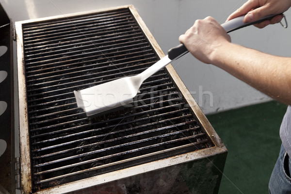 Cleaning the Grill Stock photo © eldadcarin