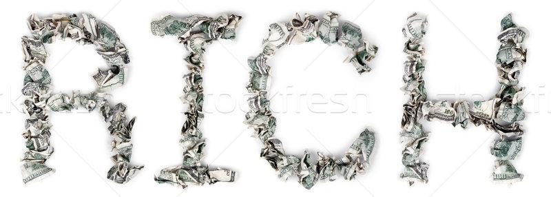 Bogate 100 słowo na zewnątrz odizolowany Zdjęcia stock © eldadcarin