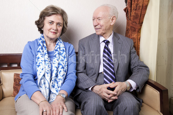 Happy Elderly Couple Stock photo © eldadcarin