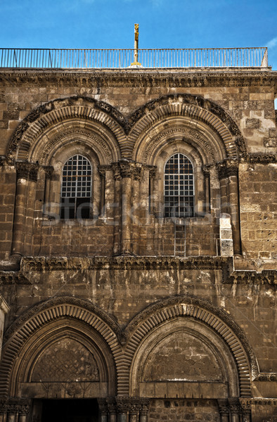 Church of the Holy Sepulchre Entrance Stock photo © eldadcarin