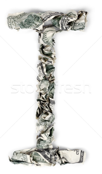 I betű 100 számlák ki izolált fehér Stock fotó © eldadcarin