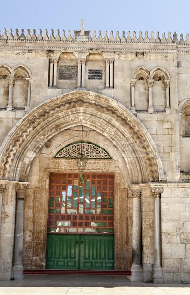 Mecset bejárat harmadik helyszín iszlám öreg Stock fotó © eldadcarin