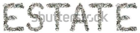 100 słowo na zewnątrz odizolowany Zdjęcia stock © eldadcarin